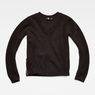 G-Star RAW® Vee Knit Black flat front