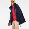 G-Star RAW® Vodan Teddy Padded Hooded Jacket Dark blue model side