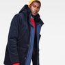 G-Star RAW® Vodan Teddy Padded Hooded Jacket Dark blue creative shot