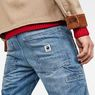 G-Star RAW® Faeroes Classic Straight Tapered Pants Midden blauw model back zoom
