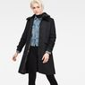 G-Star RAW® Minor Teddy Wool Classic Coat Black model front