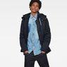 G-Star RAW® Vodan Caban Hooded Padded Jacket Dark blue model front