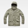 G-Star RAW® Vodan Caban Hooded Padded Jacket Green flat front