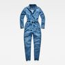 G-Star RAW® Rovic Denim Jumpsuit Medium blue flat front