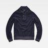 G-Star RAW® Tain Shawl Knit Dark blue flat front