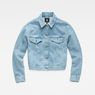 G-Star RAW® 3301  Boyfriend Denim Jacket Mittelblau flat front