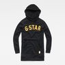 G-Star RAW® Halgen Reffit Boyfriend Hooded Sweat Dress Black flat front