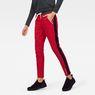 G-Star RAW® Stripe Slim Track Sweat Pant Red model front