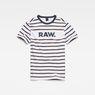G-Star RAW® Mow Stripe T-Shirt White flat front