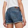 G-Star RAW® Midge Saddle Shorts Medium blue front flat