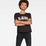G-Star RAW® Rie Art T-Shirt Black model front