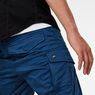 G-Star RAW® Rovic Zip 3D Straight Tapered Trousers Dark blue model back zoom