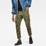 G-Star RAW® Rovic 3D Straight Tapered Trousers Green model front