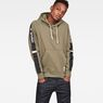 G-Star RAW® Swando New Grapic Hooded Sweat Green model front