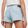 G-Star RAW® Arc Button Down Ripped Shorts Medium blue front flat