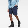 G-Star RAW® Rovic Relaxed 1/2-Length Shorts Dark blue model front