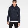 G-Star RAW® Loaq Hooded Core Sweat Dark blue model front