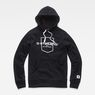 G-Star RAW® Graphic 33 Core Hooded Sweat Black flat front