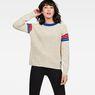 G-Star RAW® Suzaki Stripe Knit Beige model front