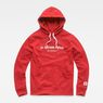 G-Star RAW® Graphic 33 Core Hooded Sweat Red flat front