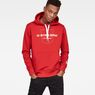 G-Star RAW® Graphic 33 Core Hooded Sweat Red model front