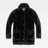 G-Star RAW® Deline Teddy Mac Jacket Black flat front