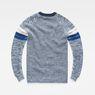 G-Star RAW® Suzaki Stripe Knit Medium blue flat back