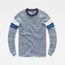 G-Star RAW® Suzaki Stripe Knit Medium blue flat front
