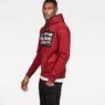 G-Star RAW® Loaq Core Hooded Sweat Red model side