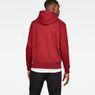 G-Star RAW® Loaq Core Hooded Sweat Red model back