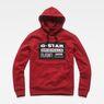 G-Star RAW® Loaq Core Hooded Sweat Red flat front