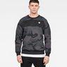 G-Star RAW® Rodis Camo Raglan Sweat Black model front