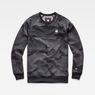 G-Star RAW® Rodis Camo Raglan Sweat Black flat front