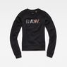 G-Star RAW® Micella Cropped Sweat Noir flat front