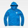 G-Star RAW® Doax Hooded Zip Thru Sweat Medium blue flat front