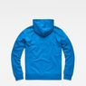 G-Star RAW® Doax Hooded Zip Thru Sweat Medium blue flat back