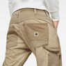 G-Star RAW® 5620 G-Star Elwood Workwear 3D Zip Straight Trousers Beige model back zoom