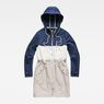 G-Star RAW® Duty Straight Color Block Parka Dark blue flat front