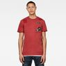 G-Star RAW® CNY Graphic Top Red model front