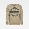 G-Star RAW® Originals Logo GR Sweater Green flat front