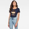 G-Star RAW® Graphic 21 Top Dark blue model front