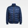 G-Star RAW® Meefic Quilted Overshirt Dark blue flat front