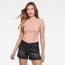 G-Star RAW® Rei Slim T-shirt Pink model front