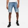 G-Star RAW® 3301 Shorts Medium blue front flat