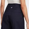 G-Star RAW® Pleated High Shorts Dark blue front flat