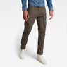 G-Star RAW® Rovic Zip 3D Straight Tapered Pant Grey model front
