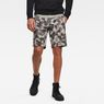 G-Star RAW® Brush Camo Sweat Shorts Grey model front