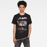 G-Star RAW® Graw Photo Graphic T-Shirt Black model front