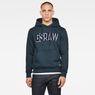 G-Star RAW® Applique Logo Hoodie Dark blue model front