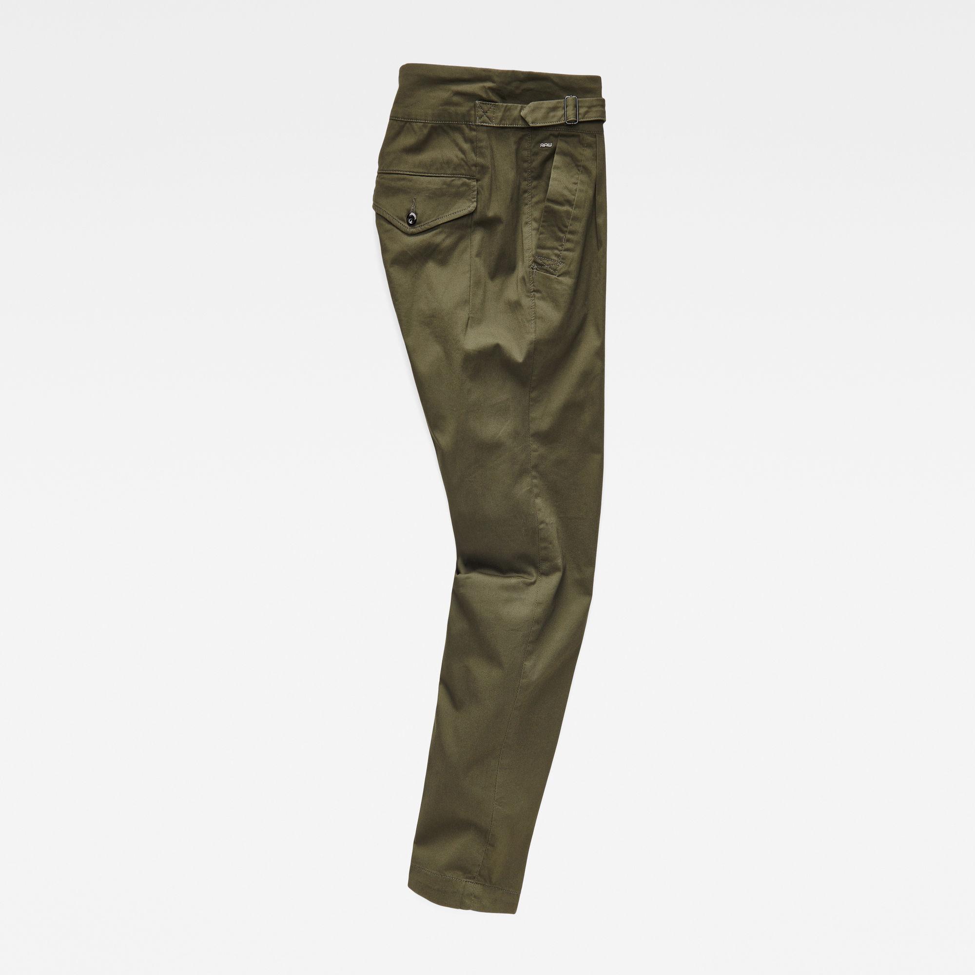 Bronson Army Mid Waist Boyfriend Pants